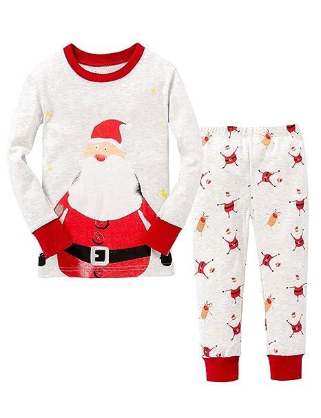 Little Sorrel Pijama para Bebe Nino Nina de los Traje de Manga Larga Ropa de Dormir