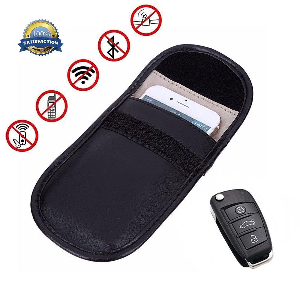 KOBWA Portachiavi per Auto Segnale Bloccante Borsa, Anti-Tracking Anti-spionaggio RFID Schermatura del Segnale FOB Senza Chiave Guardia Sacchetto di Blocco del Segnale Protezione della Privacy