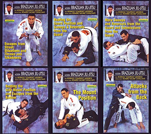 6 DVD SET Modern Brazilian Jiu Jitsu Comprido Medeiros mma grappling street situations ring by