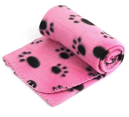 Beauty DIY Mart Manta de Lana para Gato Perro, Precioso Diseño Impresión de la Pata