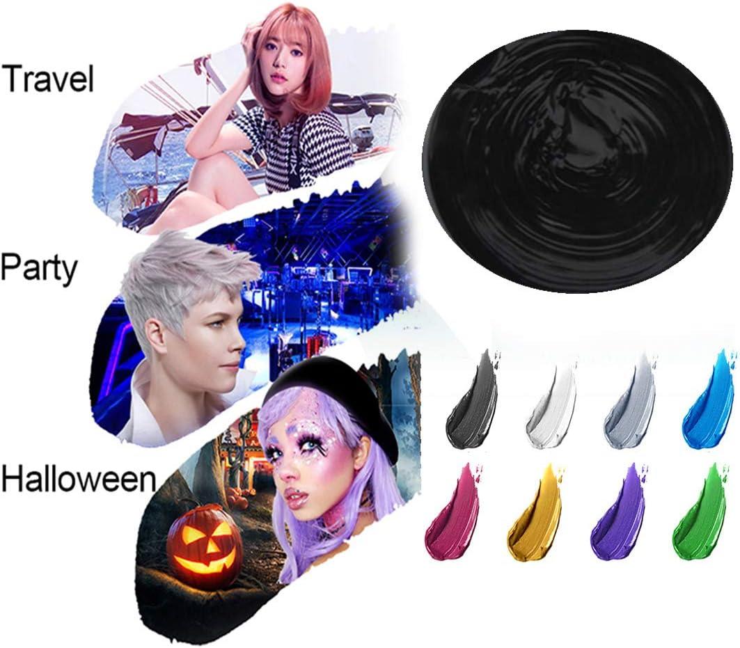 Cera del color del pelo, peinado mate natural para party.osplay, Halloween (Negro)