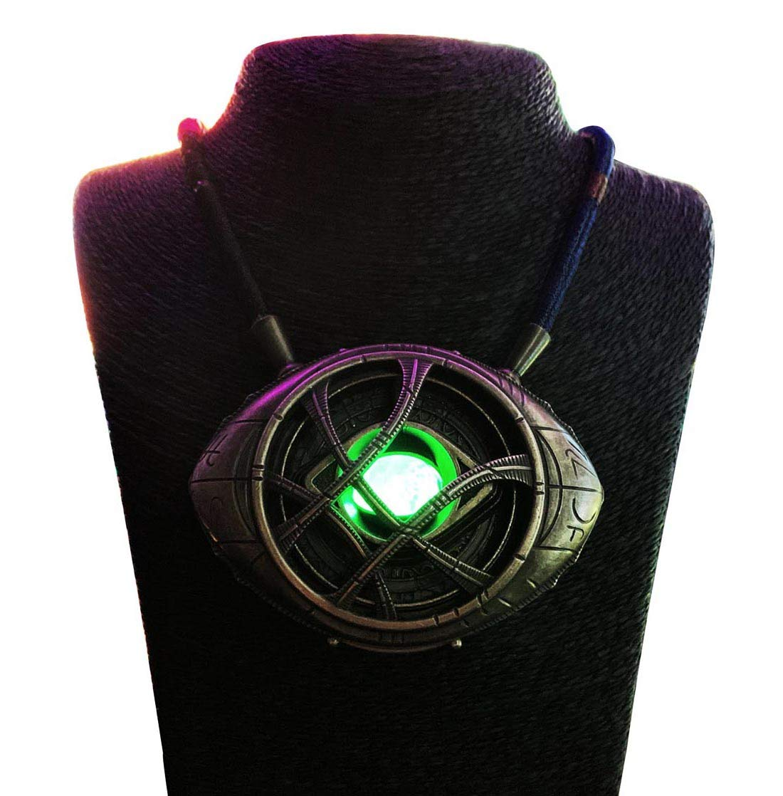 Gmasking 2019 Metal Necklace Eye of Agamotto Light-up Costume Pendant Exclusive 1:1 Replica Props