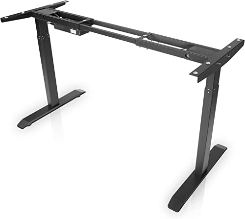 Electric Stand up Desk Frame – FEZIBO Dual Motor and Cable Management Rack Height Adjustable Sit Stand Standing Desk Base Workstation Frame Only