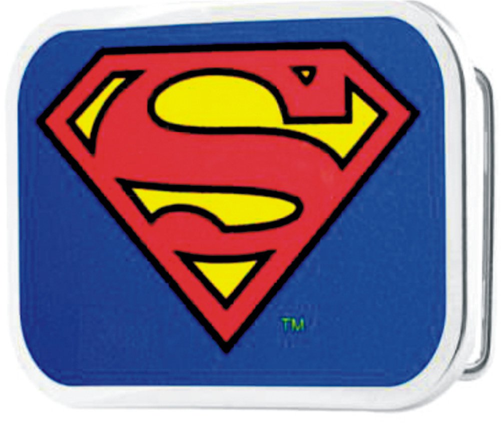 Superman DC Comics Superhero Classic Shield Logo Rockstar Belt Buckle Buckle Down