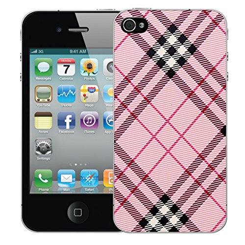 Mobile Case Mate iPhone 5 Silicone Coque couverture case cover Pare-chocs + STYLET - Pink Oblique pattern (SILICON)