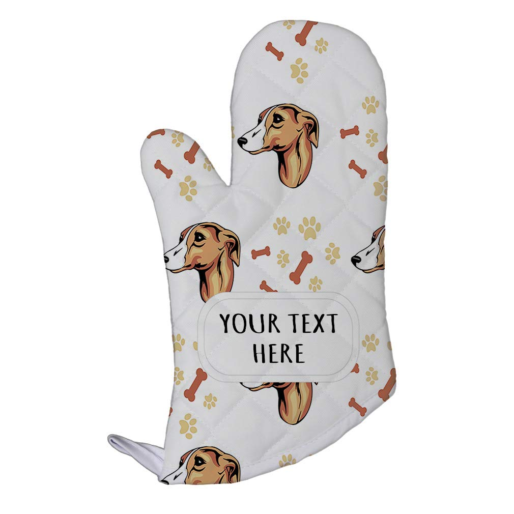 Style In Print Polyester Oven Mitt Custom Whippet Dog Breed Pattern A Adults Kitchen Mittens