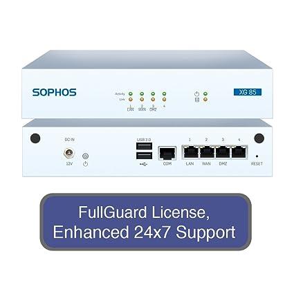 Sophos XG 85 Next-Gen Firewall Total Protect Bundle with 4 GE ports