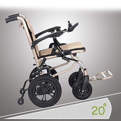 MEI XU Silla de Ruedas, Silla de Ruedas eléctrica Plegable de Aluminio, Vespa Ligera discapacitada Mayor, Carga 100kg @: Amazon.es: Hogar