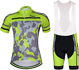 0c5db91aa48 Aogde Men s Cycling Jersey 3D Silicon Padded Bicycle Clothing Wear Short  Sleeve Cycle Skinsuits Shirt DC038
