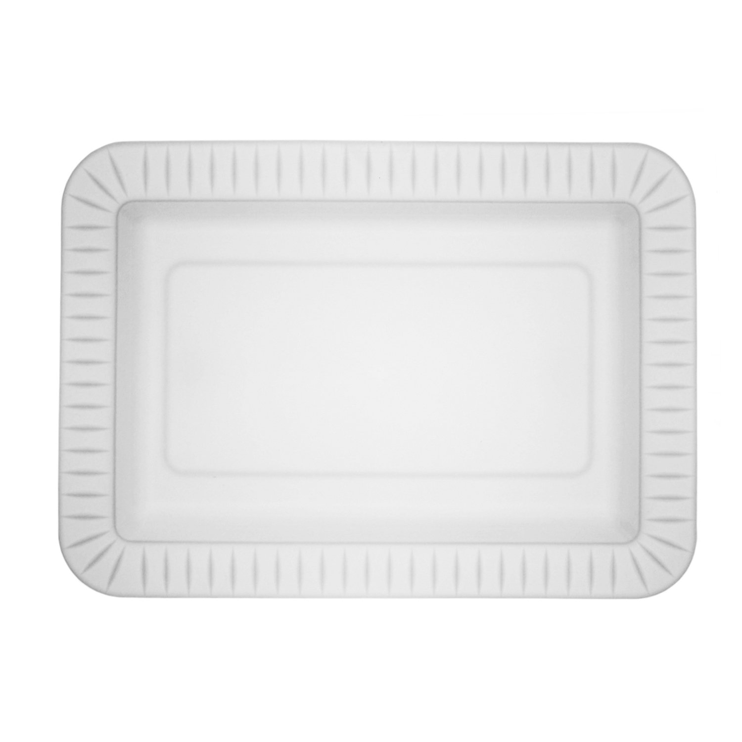 Party Essentials N259702 Party Supplies Tableware, 5x7-Inch, Clear