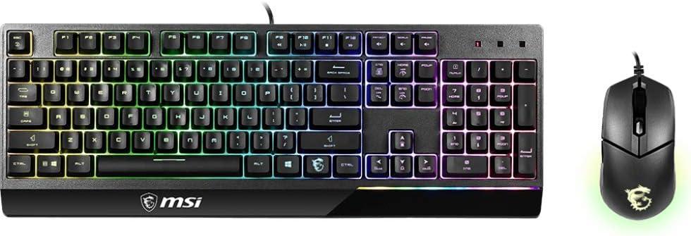 MSI Vigor GK30 USB QWERTZ Combo Black Keyboard - German Layout