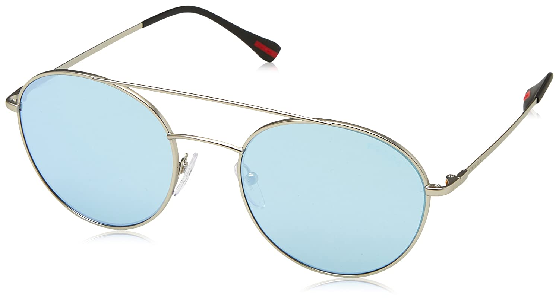 Prada Linea Rossa 0PS 51SS, Gafas de Sol para Hombre, Marrón (Matte Silver), 51