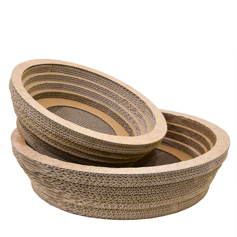 Natural MediumCHEN. Pet bedlarge bowlshaped cat scratch board corrugated paper cat bed claw claw plate claw claw toy pet supplies,Natural,M