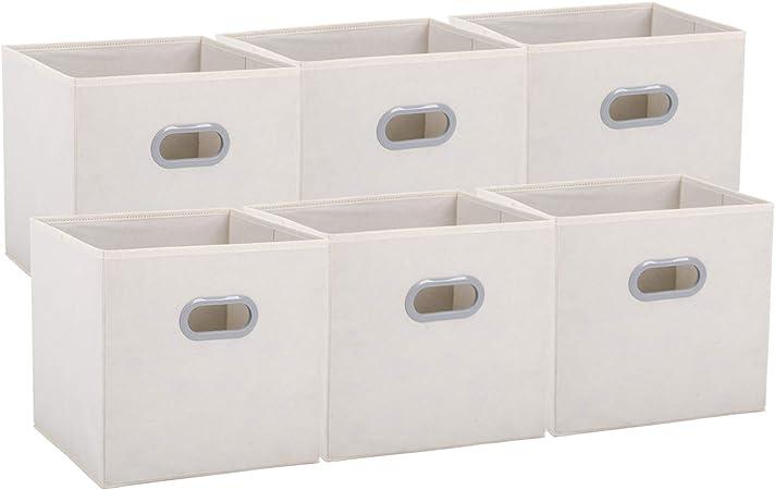 Umi By Amazon Cube De Rangement Tissu Panier De Rangement Caisse De Rangement Casier Rangement Rangement Vetement Boite De Rangement Tissu 30 5 X 30 5 X 30 5 Beige Amazon Fr Cuisine Maison
