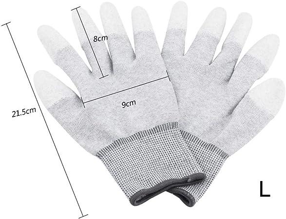 1 Paar Anti-Statik-Anti-Rutsch-Handschuhe ESD PC Computer Elektronische Arb F4E8