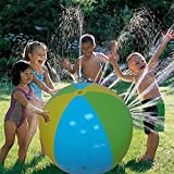 Lucky Shop1234 Inflatable Water Spray Ball Outdoor Fun Toy for Hot Summer Swimming Party Beach Pool Play Children Kids Beach Ball Sprinkler