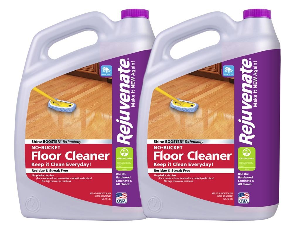 Rejuvenate No Bucket Needed Floor Cleaner Powerful PH Balanced Shine 1 Gallon (2 Pack)