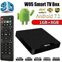 SreeTeK™️ W95 Android 7.1 Mini PC, 1GB/8GB Android TV Box Supports JIO TV & HotStar Apps, UHD 4K 1080P Smart TV Box TX3 Mini X96 Mini MXQ Pro