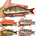 """8"""" Multi Jointed Swimbait Fishing Lures Bait Baits Life-like Lure Minnow Bass Pike Musky  from BlitzBite"""