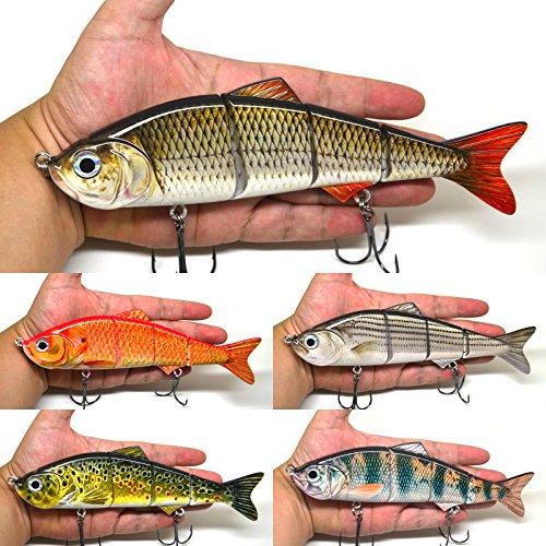 8 Multi Jointed Swimbait Fishing Lures Bait Baits Life-like Lure Minnow Bass Pike Musky NEW