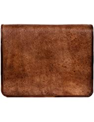 Goatter Genuine Leather Macbook/Laptop 15.6 inch EveryDay Messenger Bag