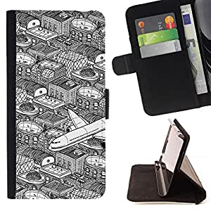 Jordan Colourful Shop - city flight pen art white black For Apple Iphone 5C - Leather Case Absorci???¡¯???€????€?????????&
