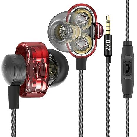 QKZ DM8 Extra Bass auriculares de doble controlador Turbo sonido de gran Gaming Auricular con micrófono