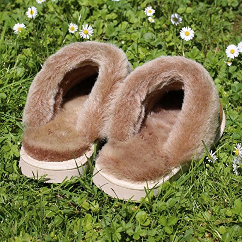 Lammfell Hausschuhe Pantoffeln Pocahontas braun Cognac