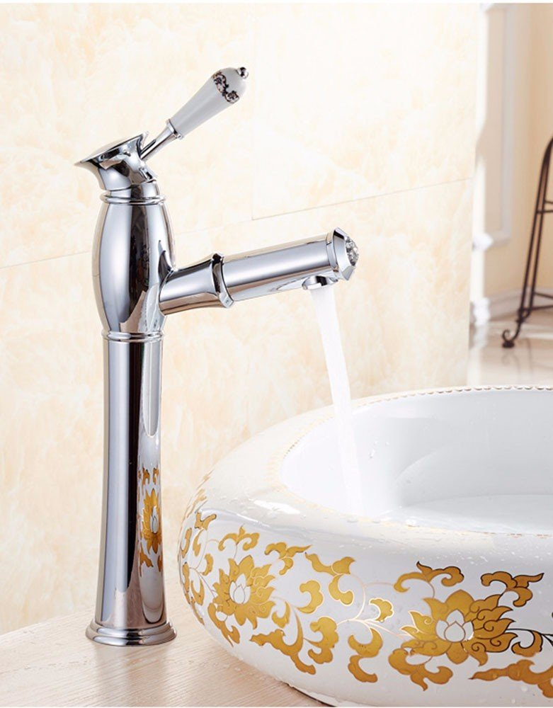 AWXJX Ceramics Sink Mixer Taps Copper Pull Out Bath Wash Your Face Swivel Hot and Cold Coated by AWXJX Sink faucet
