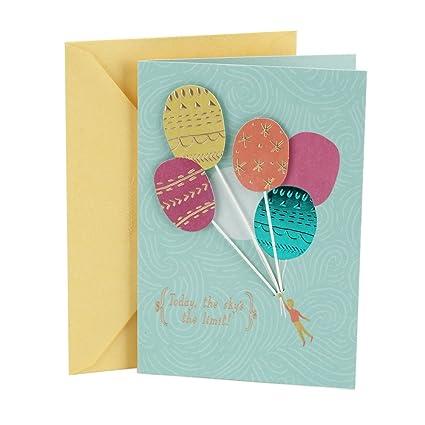 Amazon Hallmark Birthday Card Balloons Office Products