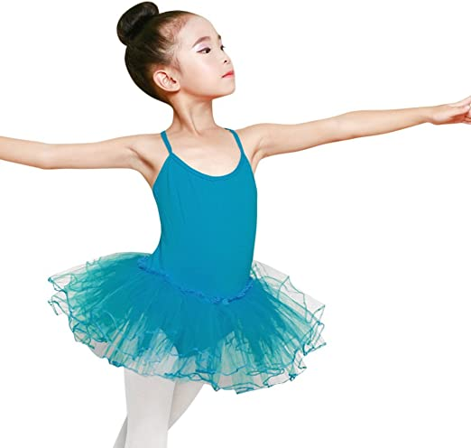 Toddler Girls Kids Gymnastics Dance Dress Ballet Tutu Bodysuit Leotard Dancewear