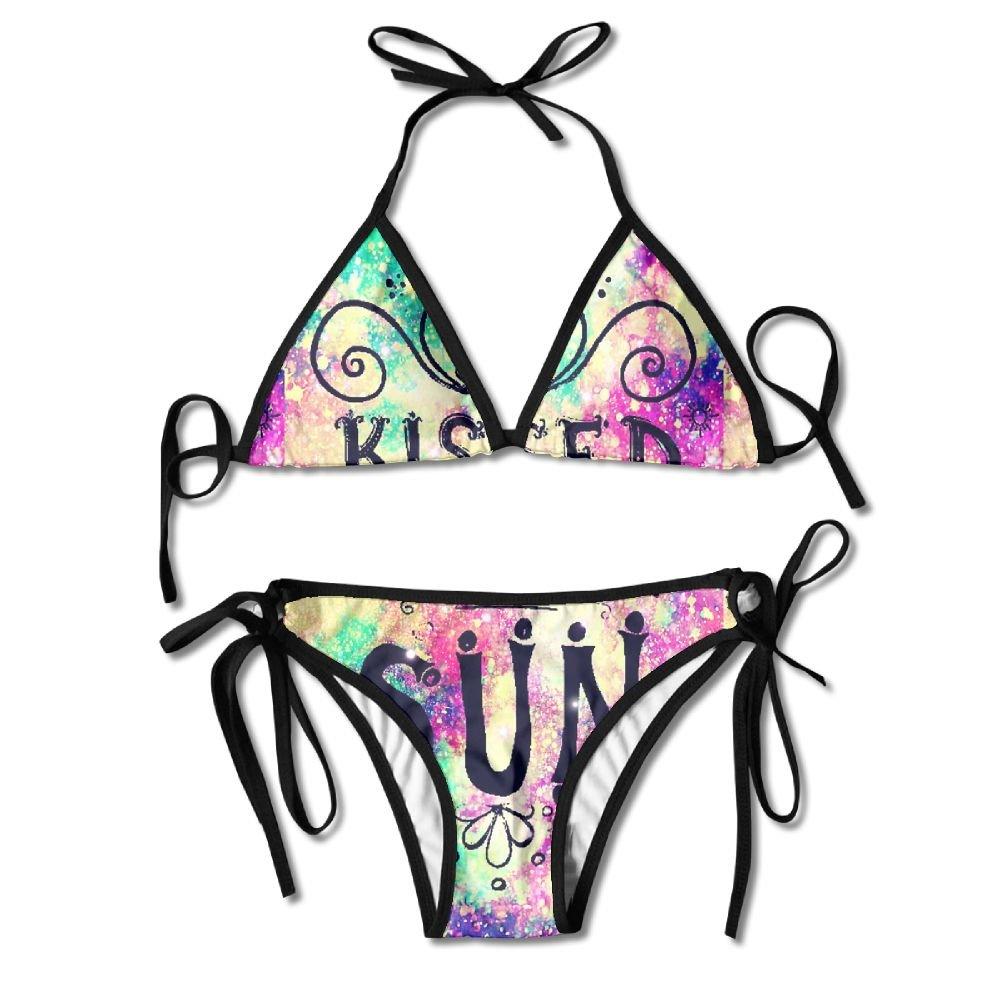 MOMOAN Sexy Push Up Unpadded Bikini Set Women Vintage Floral Adjustable Swimsuit Beach Suit Bathing Suits Kumfjg8