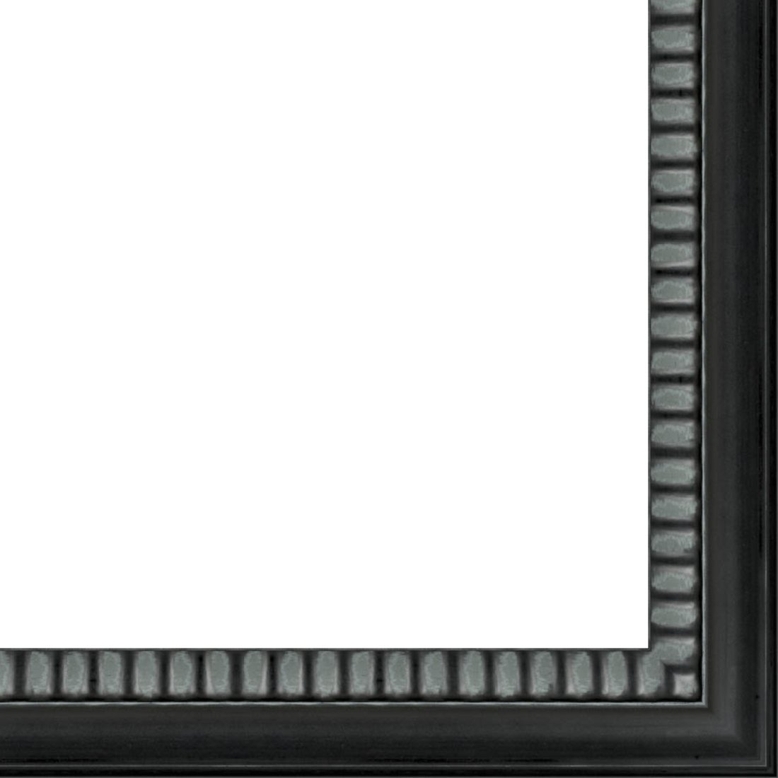 Picture Frame Moulding (Wood) 18ft bundle - Contemporary Black Finish - 2.125'' width - 1/2'' rabbet depth