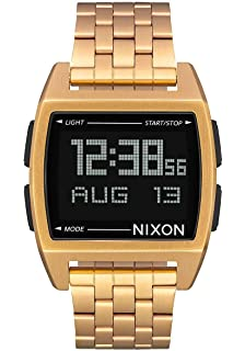 Nixon Base Mens Retro Style Smart Watch (38mm. Digital Face/Stainless Steel Band