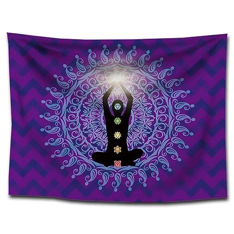 India Siete Chakras Alfombra Meditación Zen Buddha Yoga pared colgantes Mandala böhmische Toalla de playa decorativa