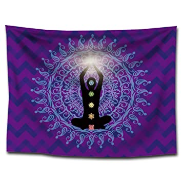 India Siete Chakras Alfombra Meditación Zen Buddha Yoga pared colgantes Mandala böhmische Toalla de playa decorativa pared toalla reaktive pared manta tapiz ...