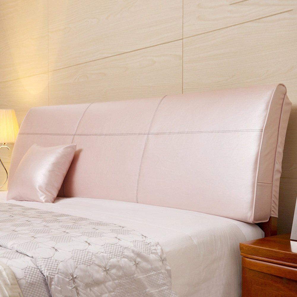 QIANGDA クッション ベッドの背もたれ バッククッション 大ウエストのサポート PUベッドヘッドピロー 疲労を和らげる ベッドルーム、 ソリッドカラー8種類、 4サイズ 利用可能 ( 色 : ピンク ぴんく , サイズ さいず : 200 x 12 x 55cm ) B079Z7TXP1 200 x 12 x 55cm|ピンク ぴんく ピンク ぴんく 200 x 12 x 55cm