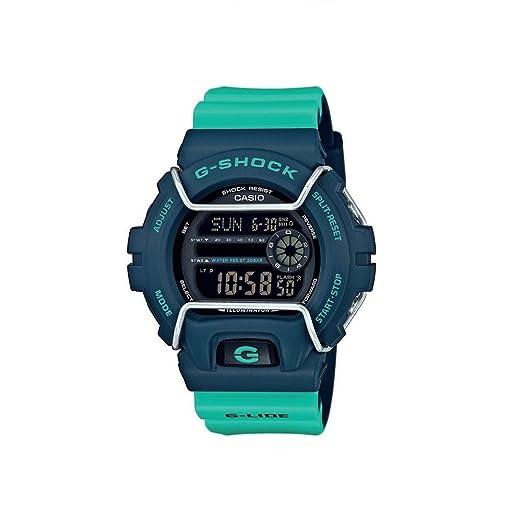 Casio Reloj Digital para Hombre de Cuarzo con Correa en Resina GLS-6900-2AER: Amazon.es: Relojes