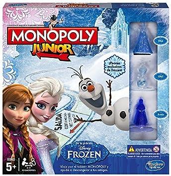 Hasbro - Juego de Mesa Monopoly Junior con diseño Frozen (B22471050): Amazon.es: Juguetes y juegos