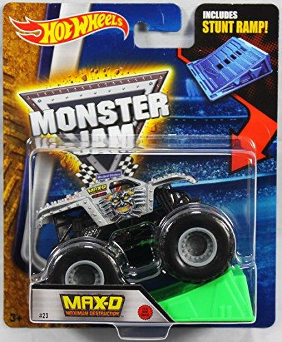 Price comparison product image Hot Wheels Monster Jam 1:64 Scale - Max-D Maximum Destruction with Stunt Ramp #23