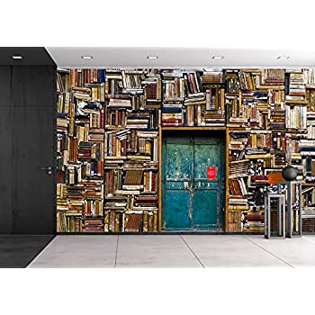 Wall26   Antique Building With A Wall Of Books   Removable Wall Mural |  Self  Part 85