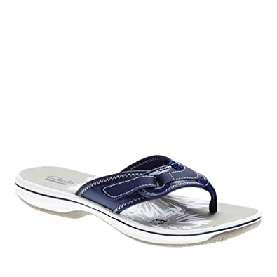 15ea6f786bbc2 Clarks Breeze Mila Slides Sandal Navy 8 B(M) US  Buy Online at Low Prices  in India - Amazon.in