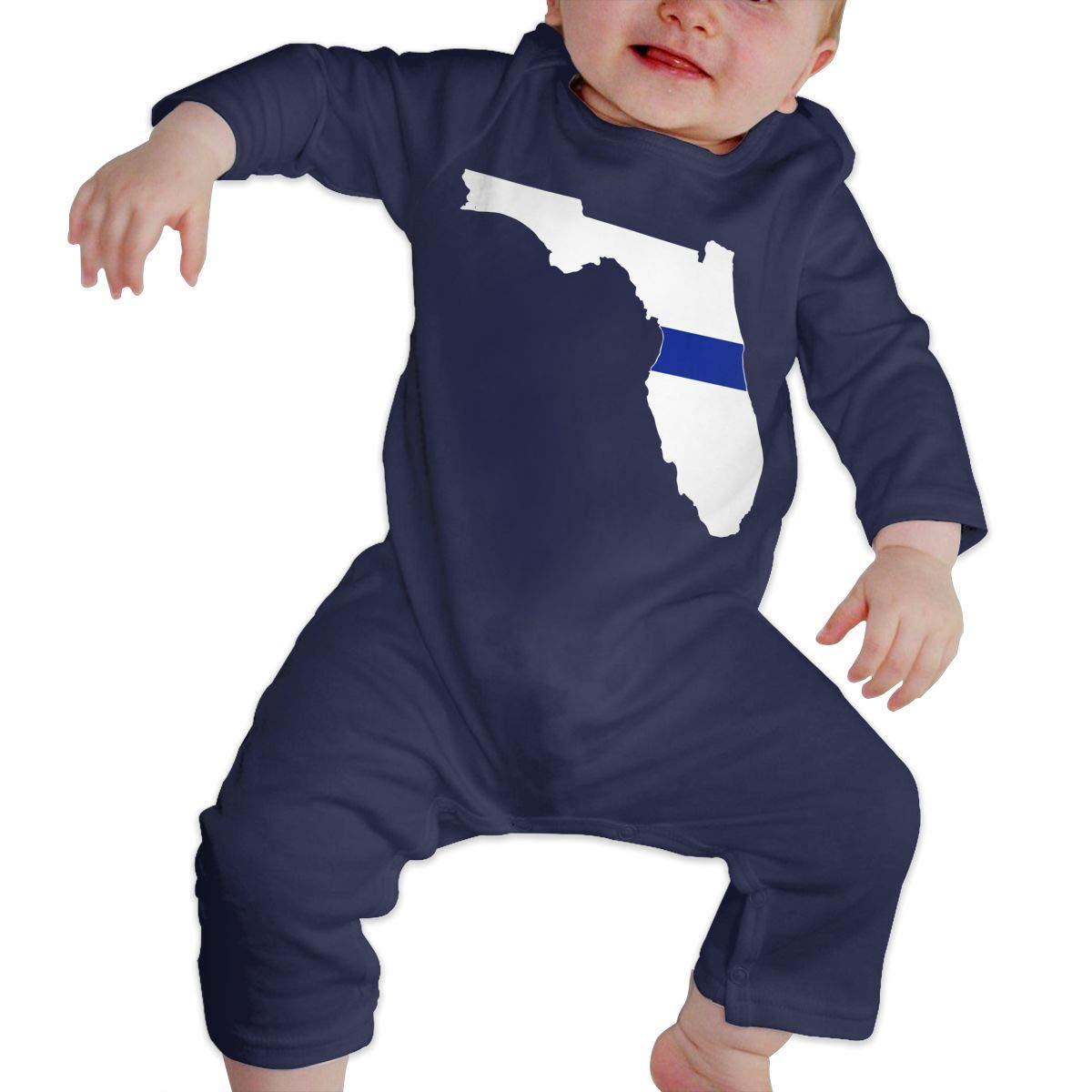 Florida-1 Newborn Baby Girl Infant Soft /& Breathable Romper Jumpsuit Bodysuit Thin Blue Line