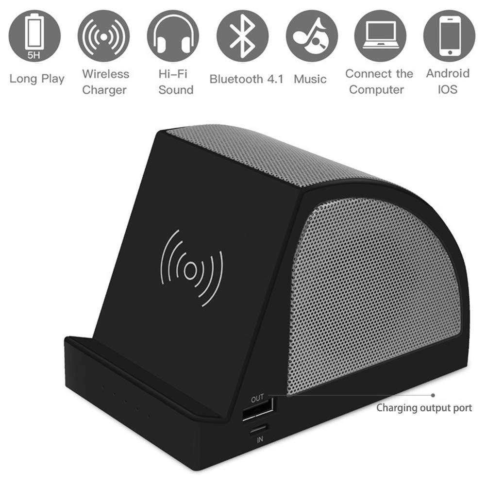 Macabolo 3 en 1 Wireless Bluetooth Altavoz Mesa Soporte Wireless ...