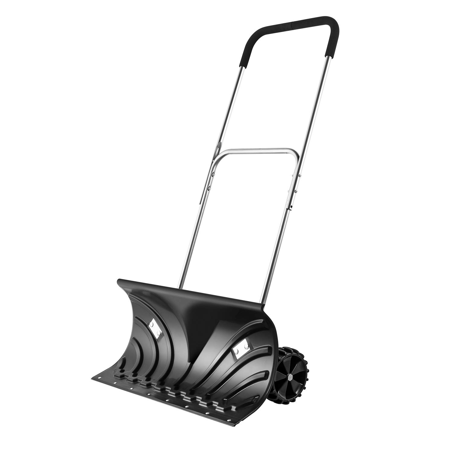 ORIENTOOLS Heavy Duty Snow Shovel, Rolling Adjustable Snow Pusher with 6'' Wheels, Efficient Snow Plow Suitable for Driveway or Pavement Clearing (25'' Blade) by ORIENTOOLS