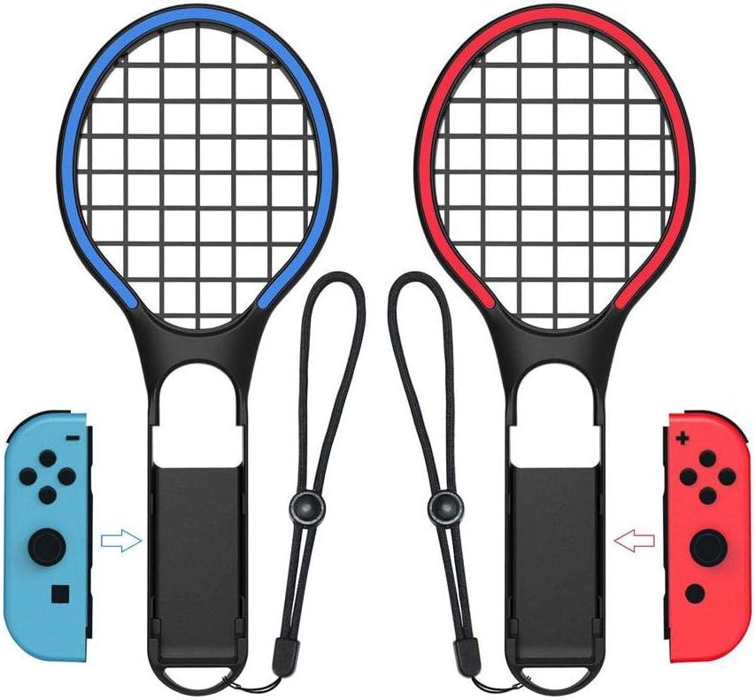 FOONEE - Raqueta de tenis para Nintendo Switch Joy-Con Controllers, 2 unidades, compatible con Nintendo Switch Mario Tennis Aces Game, Nintendo Switch Accesorios, color azul y rojo: Amazon.es: Hogar