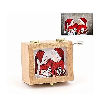 Caja de Música de manivela de Madera - Personalizada con Foto, Melody Castle in The Sky y Siempre Conmigo: Amazon.es: Juguetes y juegos