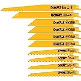 DEWALT Lâminas para serras reciprocas, conjunto bi-metal com caixa, 10 peças (DW4898)