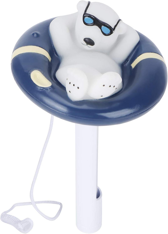 Socobeta Termómetro de bañera de hidromasaje con Forma de Animal de Dibujos Animados Lindo Termómetro de Piscina Duradero para Estanque de bañera de hidromasaje de Piscina