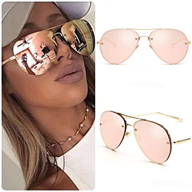 a01ff6a20 ROSE GOLD Cat Eye Aviator Women Ladies Sunglasses Mirrored Reflective Retro  UK: Amazon.co.uk: Clothing